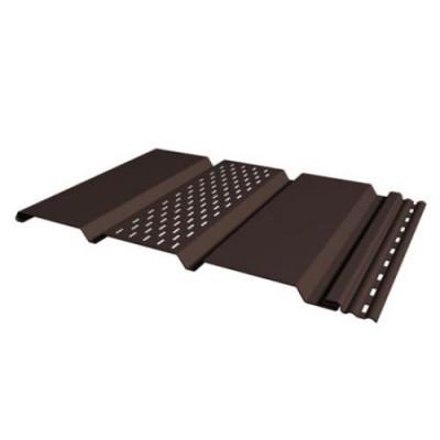 Панель Соффит коричневая перфорированная Т-20, 3 м