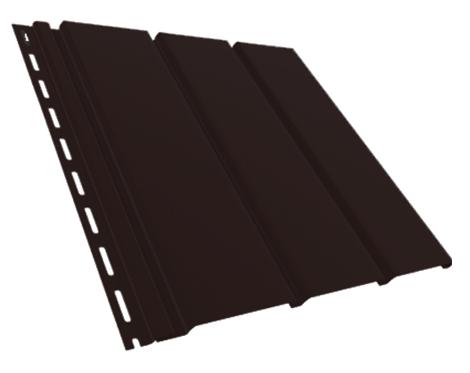 Панель Софіт коричнева неперфорованная Т-19, 3м, фото 2