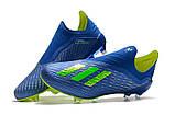 Бутсы Adidas X 18+ FG Blue-Yellow, фото 4
