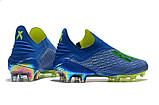 Бутсы Adidas X 18+ FG Blue-Yellow, фото 3