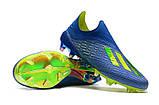 Бутсы Adidas X 18+ FG Blue-Yellow, фото 2