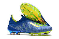 Бутсы Adidas X 18+ FG Blue-Yellow