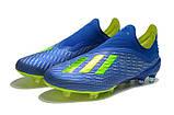 Бутсы Adidas X 18+ FG Blue-Yellow, фото 6