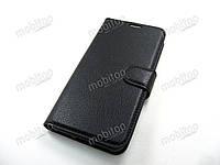 Кожаный чехол книжка Xiaomi Redmi Mi A2 Lite (черный)