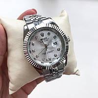 Металлические часы Rolex, женские мужские серебряные часы ролекс, жіночий, чоловічий, срібний годинник