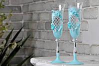Набор свадебных бокалов для шампанского Bohemia Angela 190 мл х 2 шт (515)
