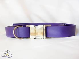 Ошейник из биотана, Фиолетовый, 19мм(метал.фастекс)
