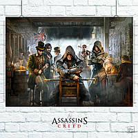 Постер Кредо Асассина, Asassins Creed: Syndicate. Размер 60x42см (A2). Глянцевая бумага