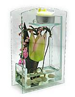 Цветок в стекле (16,5х10,5х5 см)