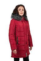 """Зимняя женская куртка """"Юлиана""""  (34) 46, Красный"""