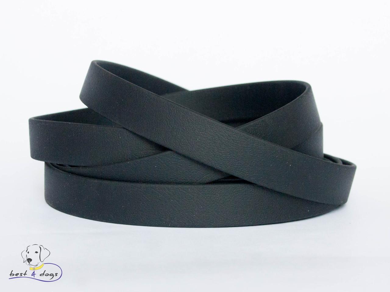 Ошейник из биотана, Черный, 19мм(пластик.фастекс)