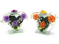 Цветок в стекле (15,5х14,5х5 см)
