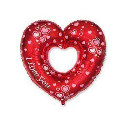 """Фольговані кульки міні-фігури """"Чудове серце"""""""