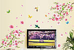 Самоклеющаяся  наклейка  на стену Цветущий персик и колибри (120х110см), фото 6