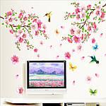 Самоклеющаяся  наклейка  на стену Цветущий персик и колибри (120х110см), фото 5