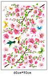 Самоклеющаяся  наклейка  на стену Цветущий персик и колибри (120х110см), фото 4