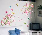 Самоклеющаяся  наклейка  на стену Цветущий персик и колибри (120х110см), фото 3