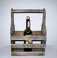 Подставка под бутылки из дерева І Деревянная подставка для вина Бокал на 6 бутылок, фото 1
