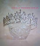 Корона для девочки под серебро,  высота 5 см., фото 3