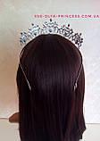 Корона для девочки под серебро,  высота 5 см., фото 7