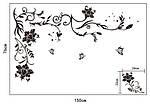 Самоклеющаяся  наклейка  на стену Угловой ажур  (150х76см), фото 2