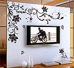 Самоклеющаяся  наклейка  на стену Угловой ажур  (150х76см), фото 4