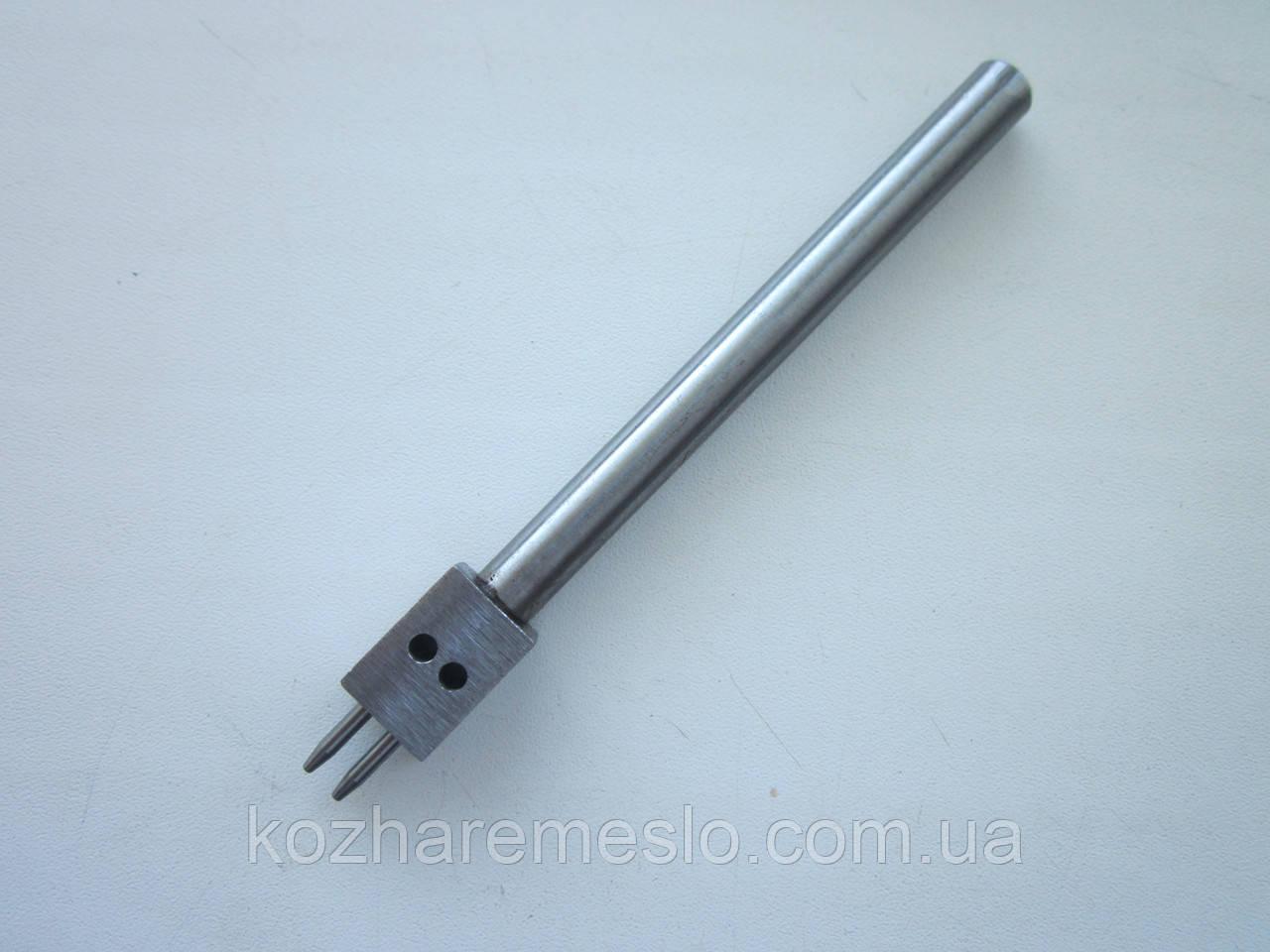 Пробойник шаговый (круглый) для кожи шаг 6 мм два отверстия