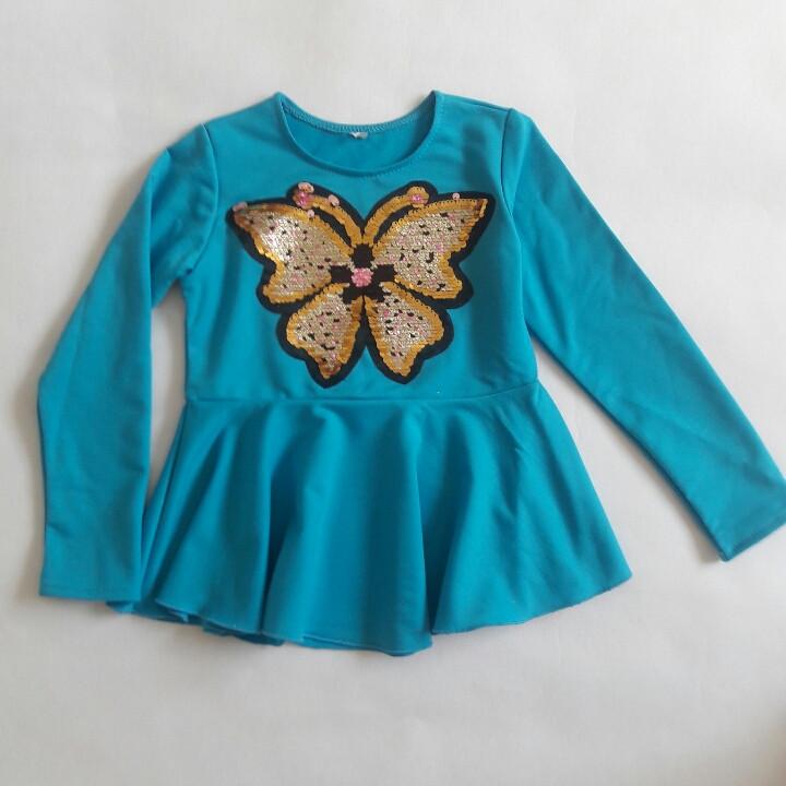Красивая туника Бабочка для девочки
