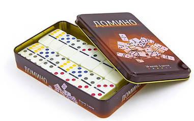 Домино настольная игра в металлической коробке IG-3974