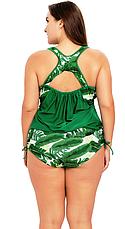 Купальник сдельный. Большие размеры. Купальный костюм Листья., фото 3