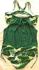 Купальник сдельный. Большие размеры. Купальный костюм Листья., фото 2
