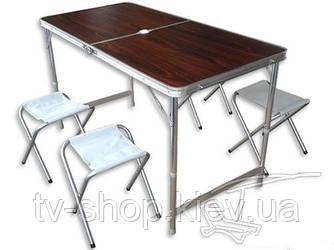 """Набор для пикника """"Folding"""" (стол+стулья) зонт в подарок!"""