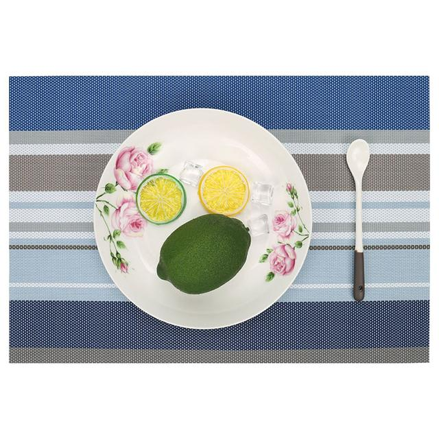 Сервировочные коврики-подставки под тарелки на кухонный стол, 6 шт сине-голубой