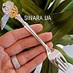 Дитяча срібна виделка Мишка, фото 3
