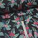 Ткань польская хлопковая, фламинго малиновые в цветах на черном, фото 2