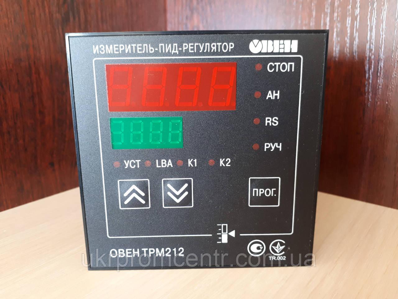Измеритель ПИД-регулятор для управления задвижками и трехходовыми клапанами с интерфейсом RS-485 ОВЕН ТРМ212