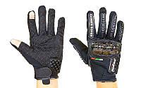 Мотоперчатки текстильные с закрытыми пальцами Madbike MAD-06: пластик + текстиль, размер M-XXL