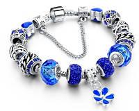 Браслет Пандора (Pandora) Синий копия Сезонная Распродажа! 9d34347693b26