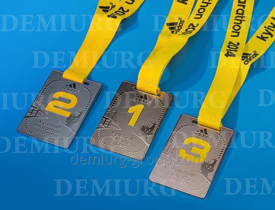 Медаль спортивная с призовыми местами