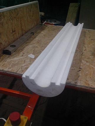 Скорлупа из пенополистирола (пенопласта) для труб Ø 100 мм толщиной 40 мм, фольгированная, фото 2