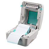 Принтер етикеток, термопринтер штрих кодів, QR кодів Xprinter XP-DT425B USB 110mm, фото 5