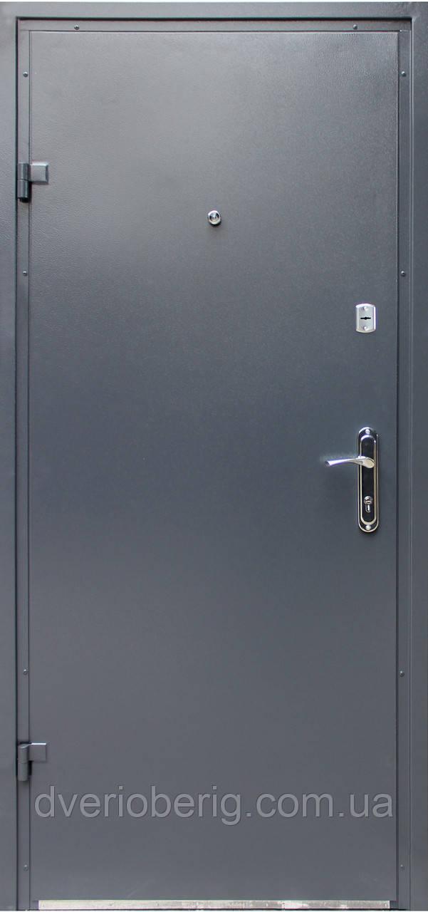Входная дверь модель Метал/Мдф  Серая