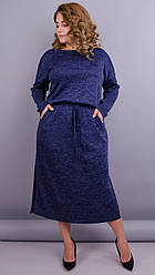 Леся. Однотонне теплу сукню для пишних форм
