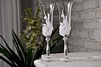 Набор свадебных бокалов для шампанского Bohemia Angela 190 мл х 2 шт (106)