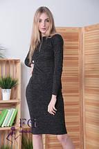 958c81ba5381b8a Модное платье демисезонное до колен облегающее регулируемое декольте на змейке  цвет графит, фото 2