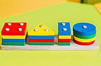 Дерев'яна іграшка «Геометрик класичний 4 фігури», фото 1