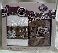 Полотенца махровые кухонные - Merzuka - Coffee - 2 шт. - 40*60 - 100% хлопок - Турция - (kod1508), фото 1