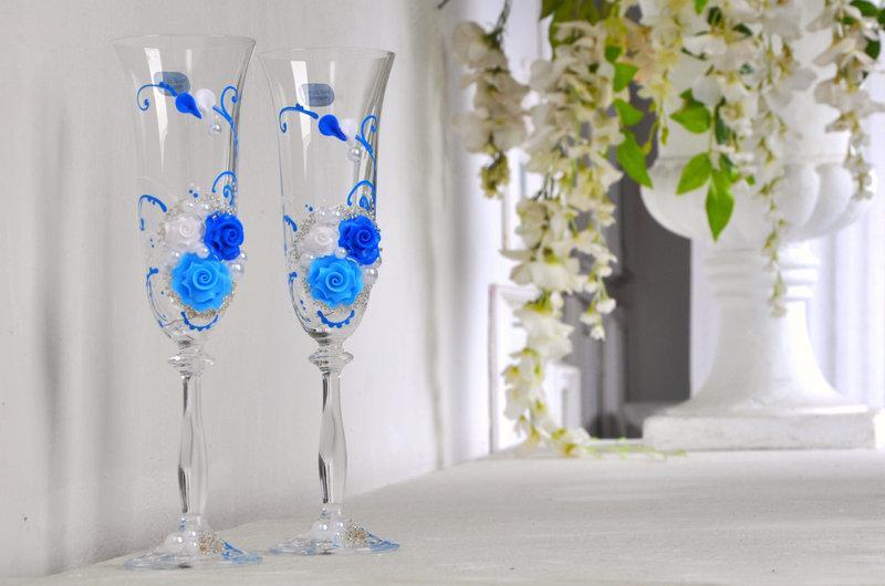 Набор свадебных бокалов для шампанского Bohemia Angela 190 мл х 2 шт (104)