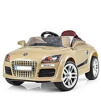 Детский электромобиль КХ 1778 Audi, автопокраска, колёса EVA, кожаное сиденье, золотой