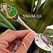 Серебряная ложка с эмалью Змея - Чайная серебряная ложка - Чайная ложка серебро, фото 3